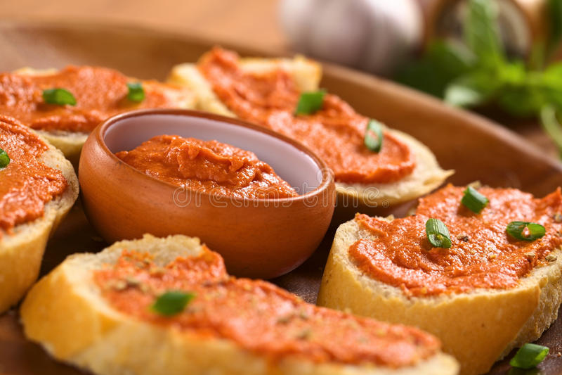 Tomato-Butter Spread Royalty Free Stock Photos