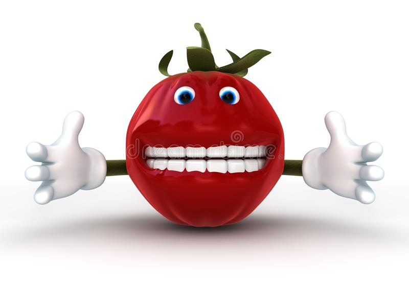 Download Tomato Character isolated stock illustration. Image of mouth - 14040515
