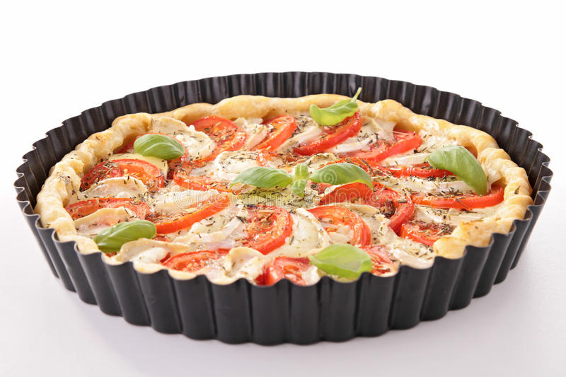 Download Tomato and cheese tart stock photo. Image of quiche, gourmet - 25701184