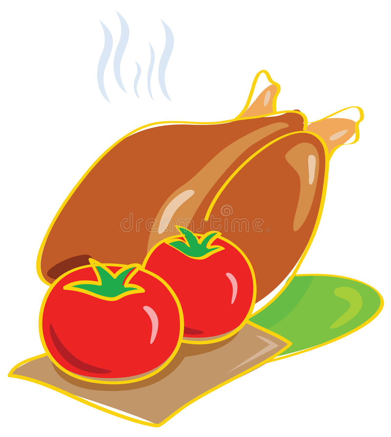 Download Tomato And Chicken Illustration Stock Vector - Illustration of italian, cuisine: 11446443