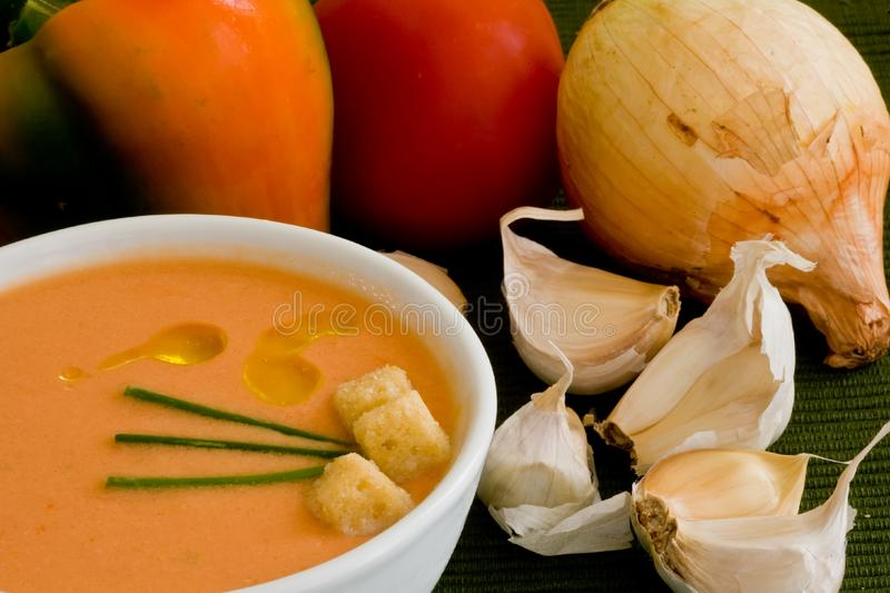 Tomato cold soup royalty free stock image