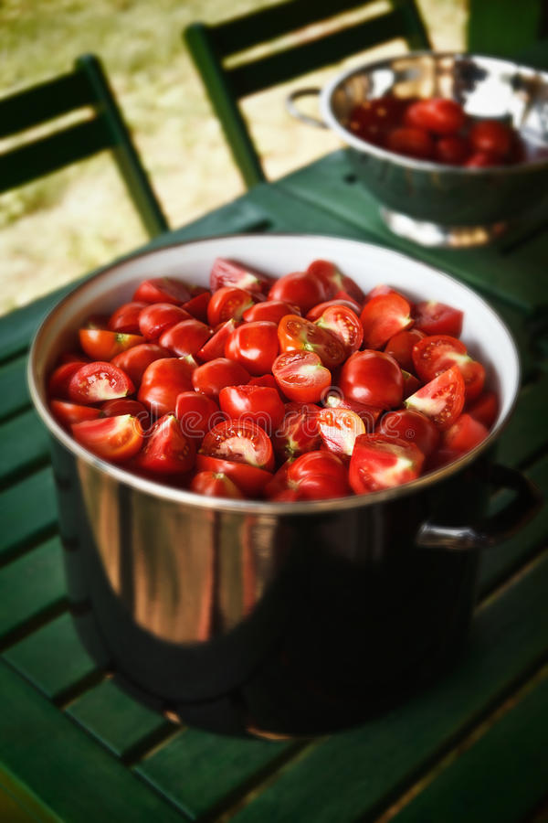 Tomato Cooking In The Garden Royalty Free Stock Image