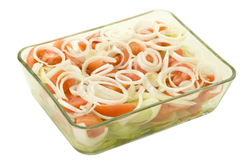 Download Tomato Cucumber And Onion Salad Stock Image - Image of nutrition, white: 13047291