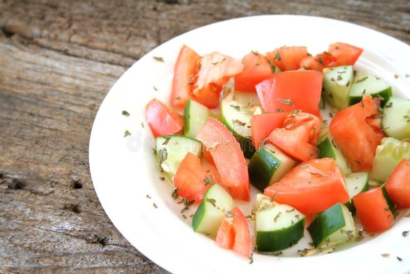 Tomato Cucumber Salad royalty free stock photography