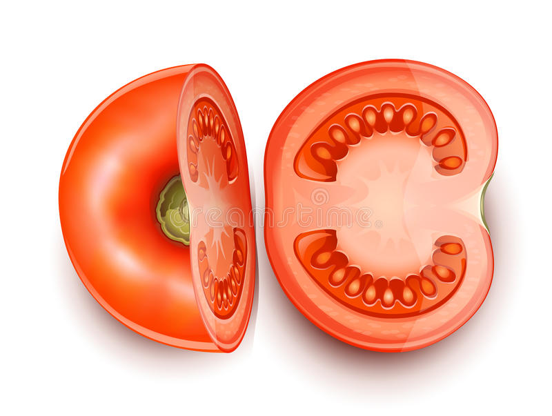 Tomato cuted in two part