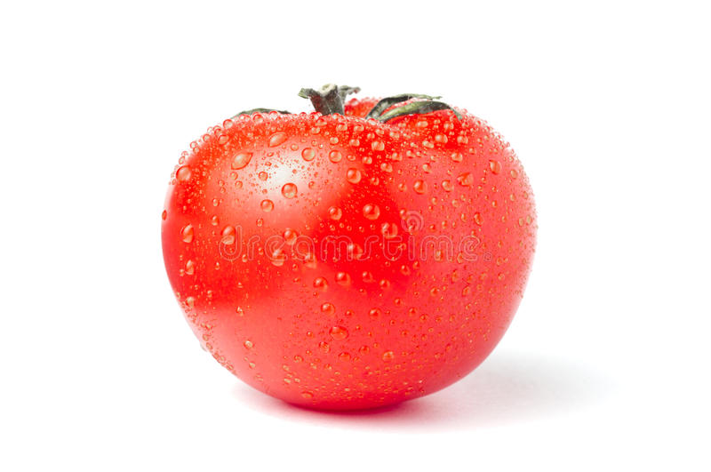 Tomato with droplets stock photos
