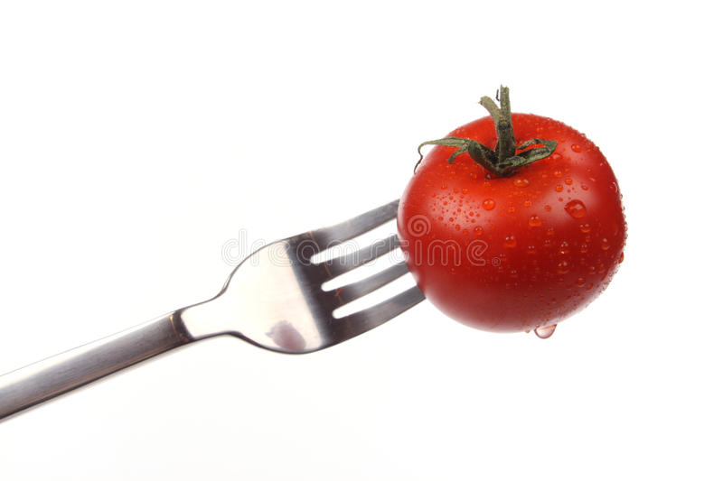 Download Tomato on a fork stock image. Image of eating, fresh - 18631593