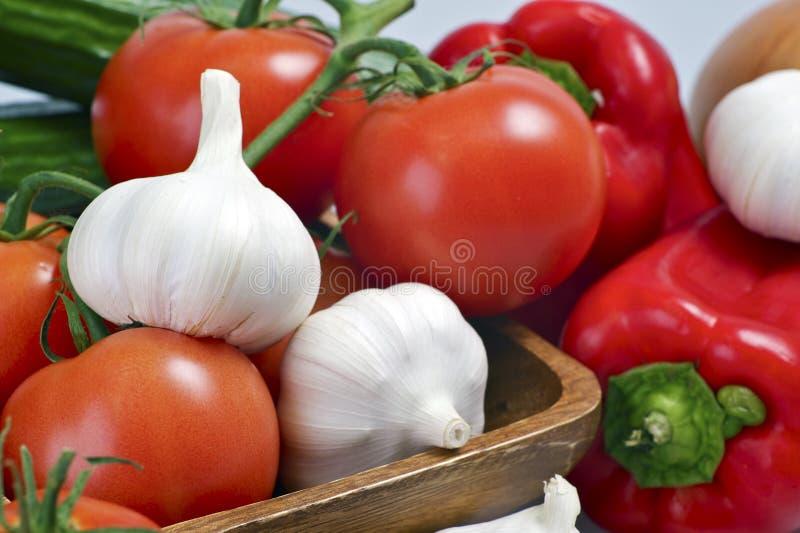 Tomato Garlic Paprika royalty free stock image