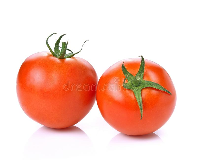 Tomato vegetable on white background stock images