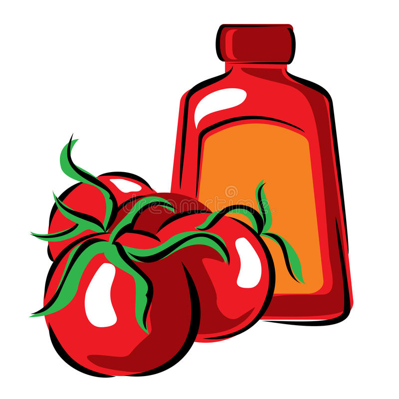 Download Tomato and ketchup stock vector. Illustration of tasteful - 18950692