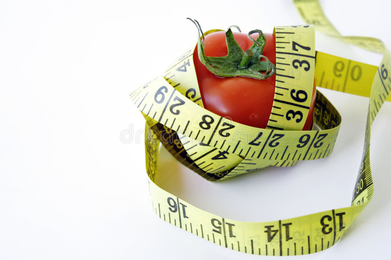Download Tomato  With Measuring Tape Stock Image - Image: 2896389