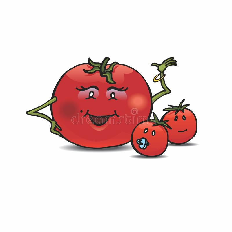 Download Tomato mom stock vector. Image of cherry, greeting, tomato - 26562038