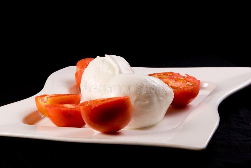 Tomato and Mozzarella stock photos
