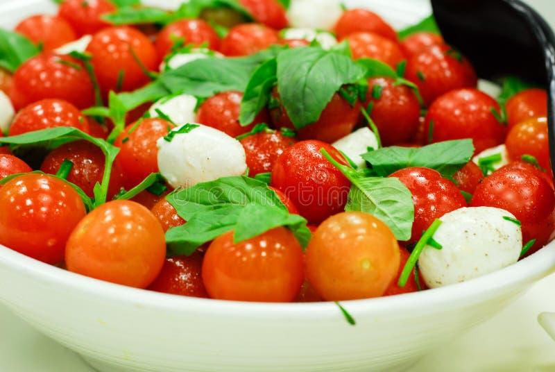 Tomato and mozzarella salad stock photo