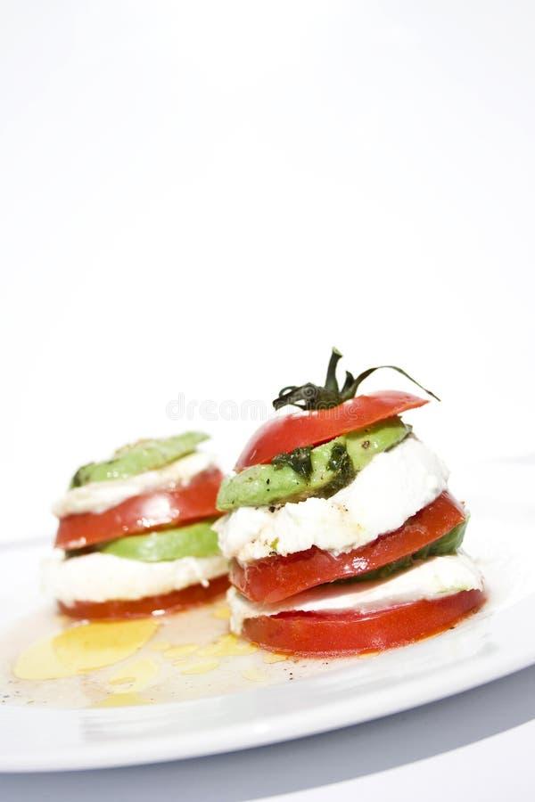 Free Tomato Mozzarella Salad With Avocado Stock Photography - 9230732