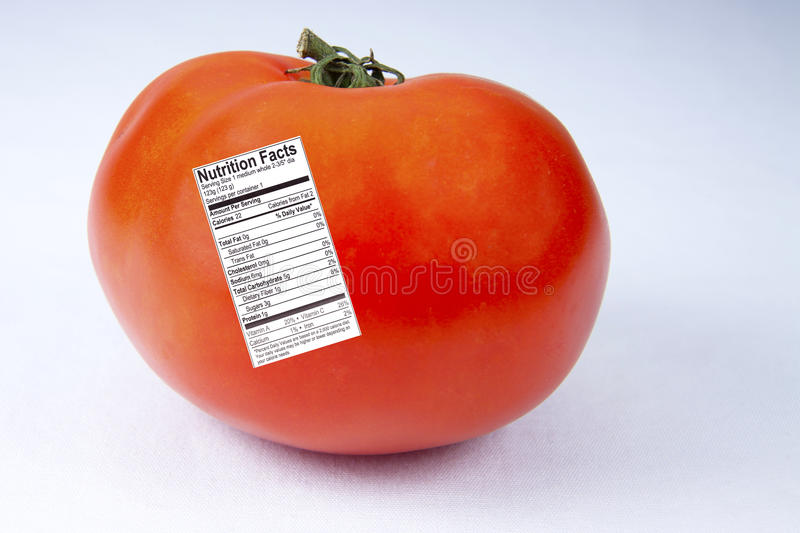 Download Tomato With Nutrition Label Royalty Free Stock Photo - Image: 20431515