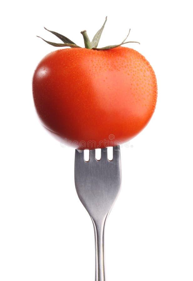 Free Tomato On Fork Stock Image - 17374431