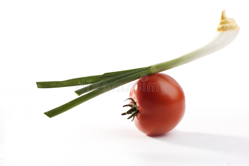 Tomato And Onion And Mayo Stock Photography