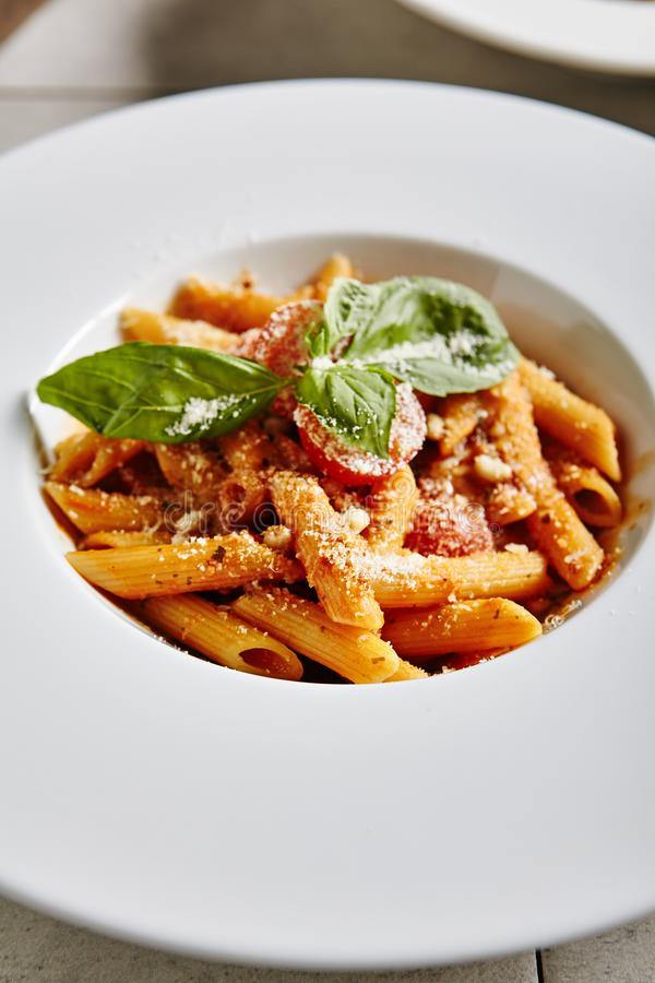 Tomato Penne Pasta royalty free stock images