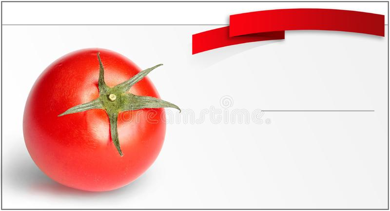 Tomato price tag royalty free stock photos