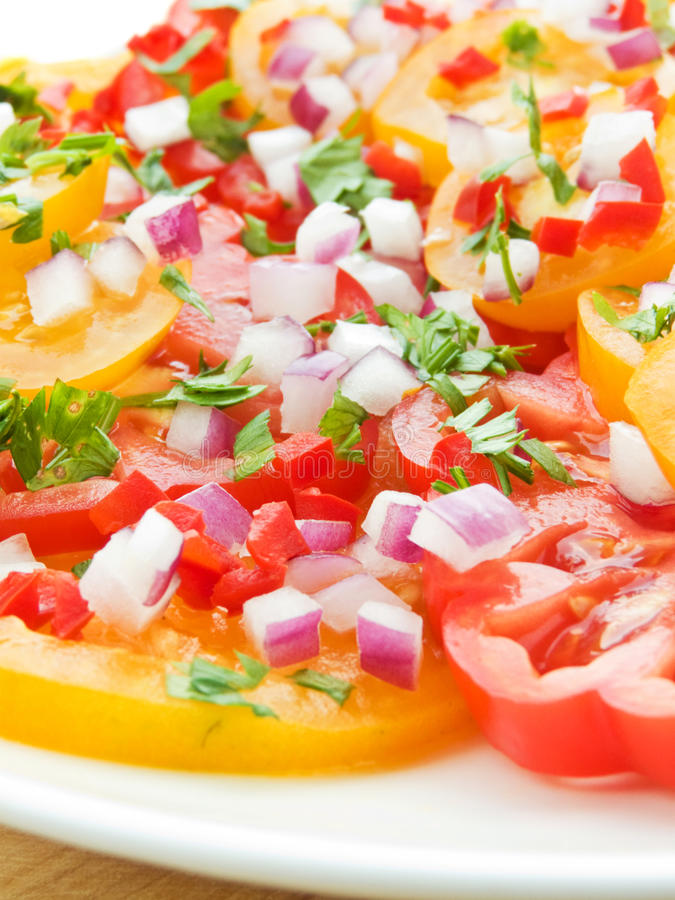 Download Tomato salad stock image. Image of leaf, meal, colorful - 16125557