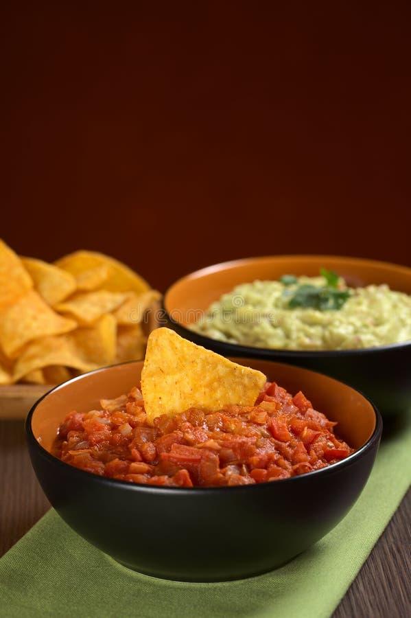 Tomato Salsa And Nacho Royalty Free Stock Photo