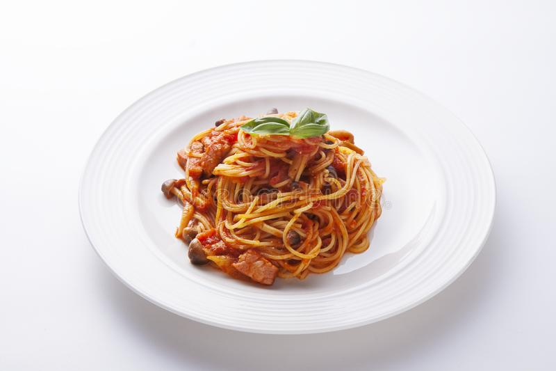 Tomato sauce spaghetthi stock images