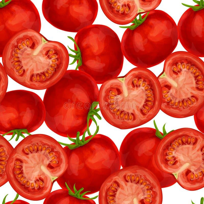 Tomato seamless pattern stock illustration