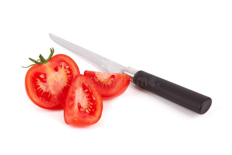 Tomato. Slice isolated on a white background stock photography