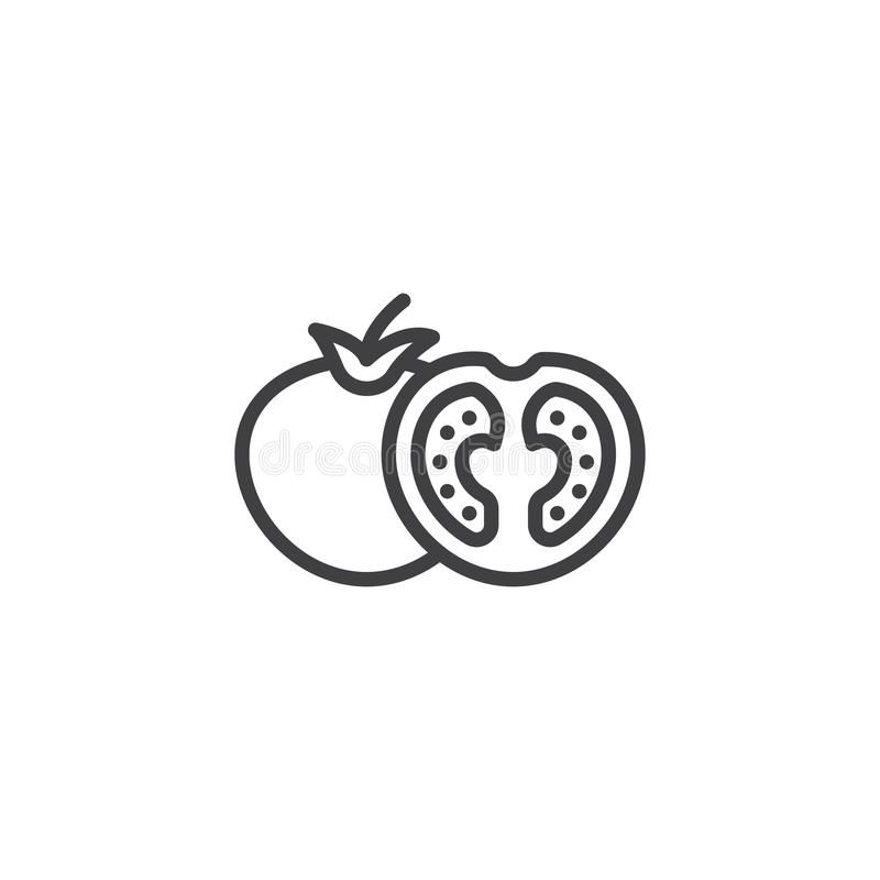 Tomato slice vector icon. Filled flat sign for mobile concept and web design. Whole and slice tomatoes glyph icon. Symbol, logo illustration. Vector graphics vector illustration