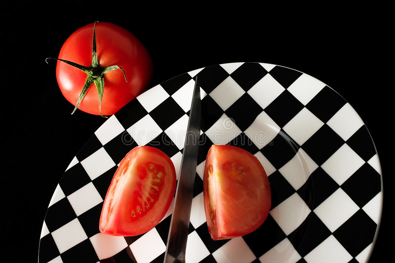 Tomato slices royalty free stock image