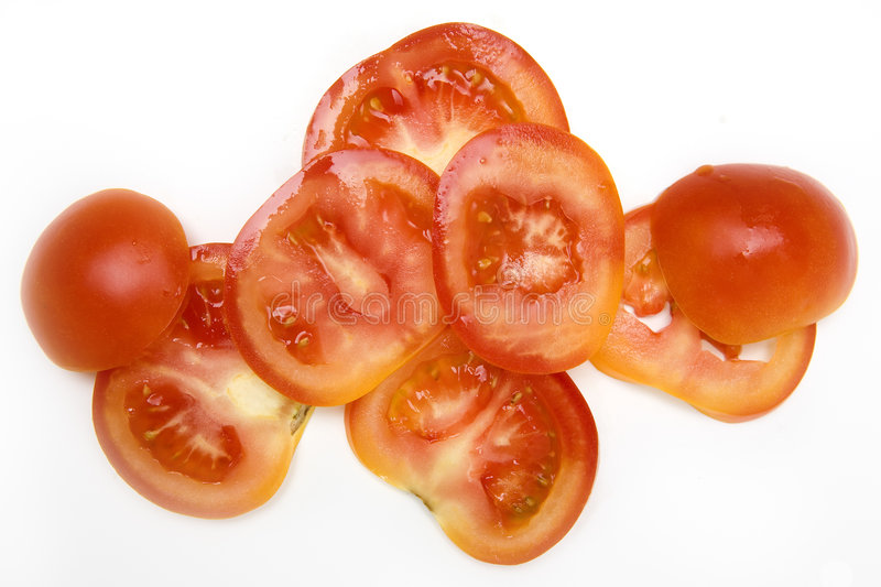 Tomato slices stock images