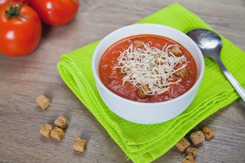 Download Tomato Soup stock photo. Image of spoon, organic, freshness - 19452676