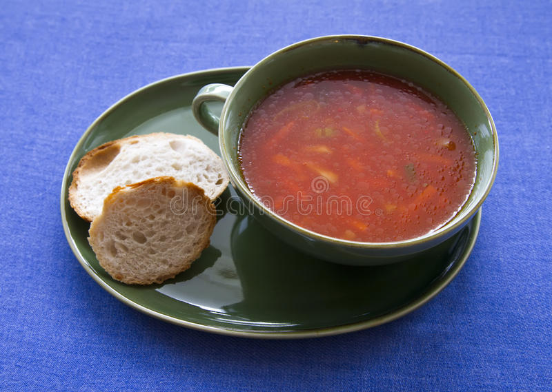 Download Tomato soup stock photo. Image of plate, food, dining - 29088592