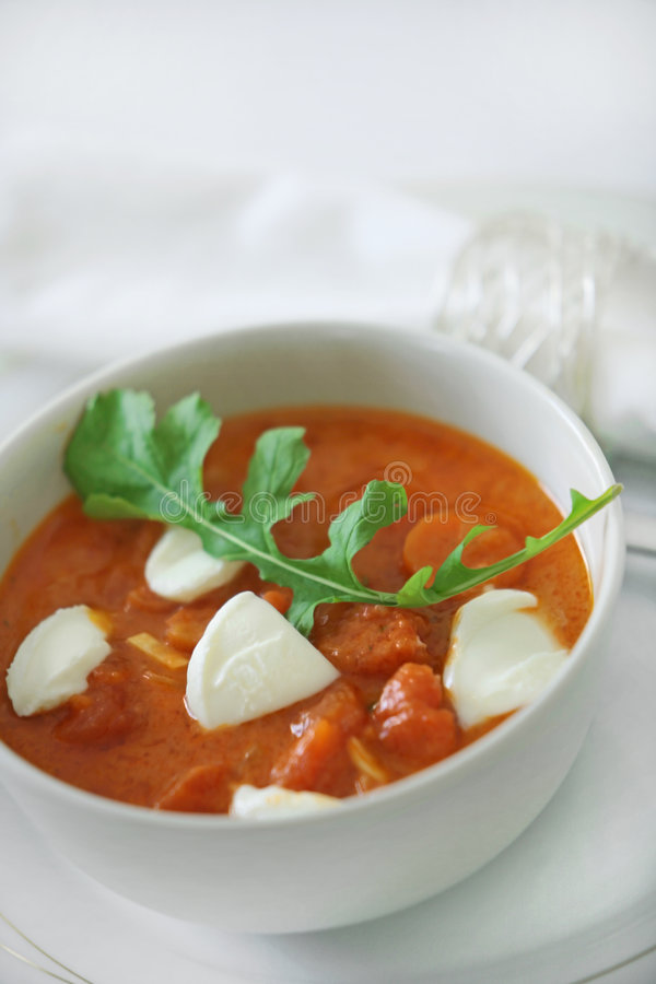 Download Tomato soup stock image. Image of cooking, cafe, bowl - 8835465