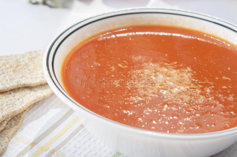 Download Tomato soup stock photo. Image of horizontal, leaf, herb - 32514632