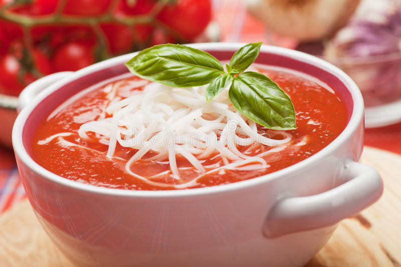 Download Tomato soup stock image. Image of noodle, vegetarian - 32869403