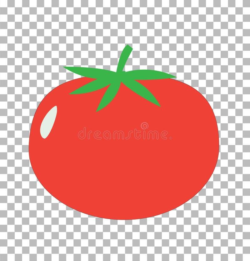 Tomato on transparent. tomato sign. Flat style. tomato icon stock illustration