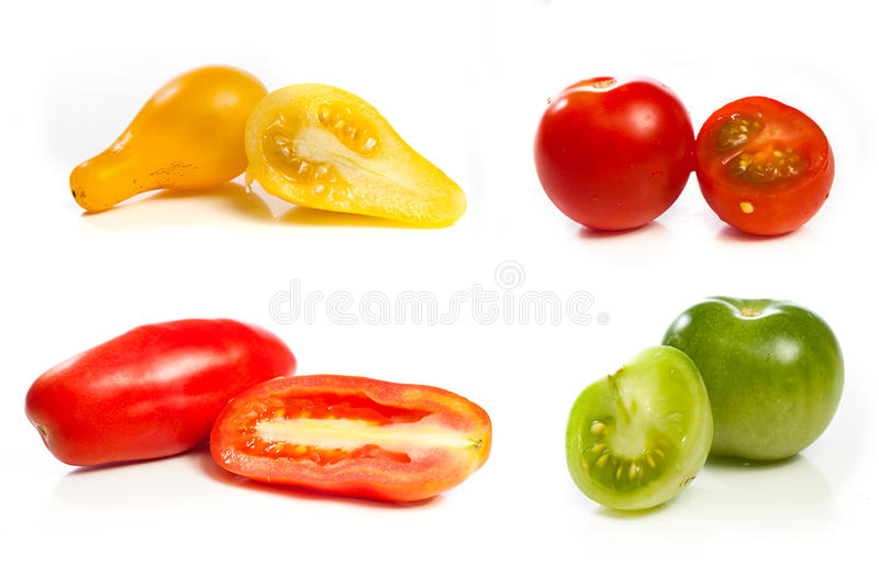 Tomato variety collage stock image