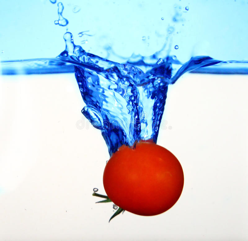 Tomato in water stock image