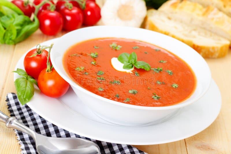 Tomatoe汤 免版税库存图片