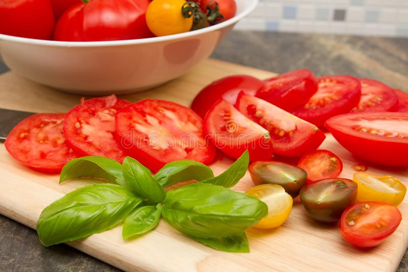 Tomatoe d'héritage photo stock