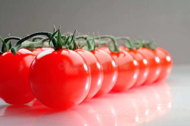 Tomatoe da cereja imagem de stock royalty free