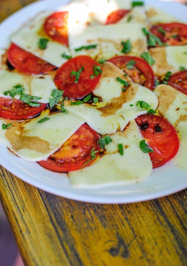 Tomatoe e mussarela fotos de stock