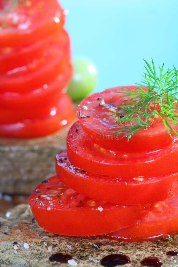 Tomatoe Salat lizenzfreies stockfoto