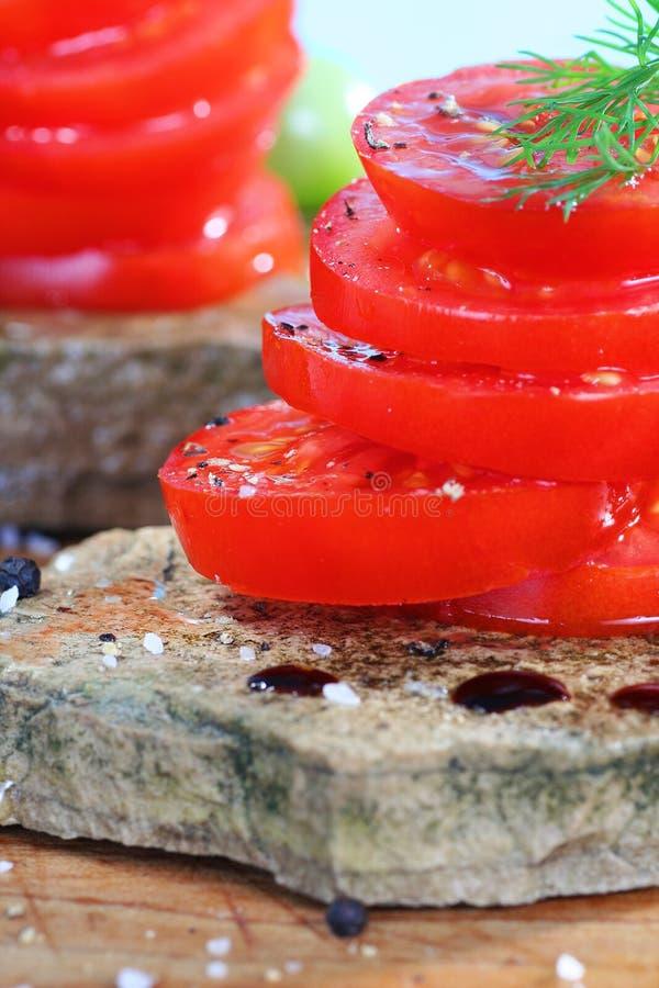 Tomatoe Salat stockbild