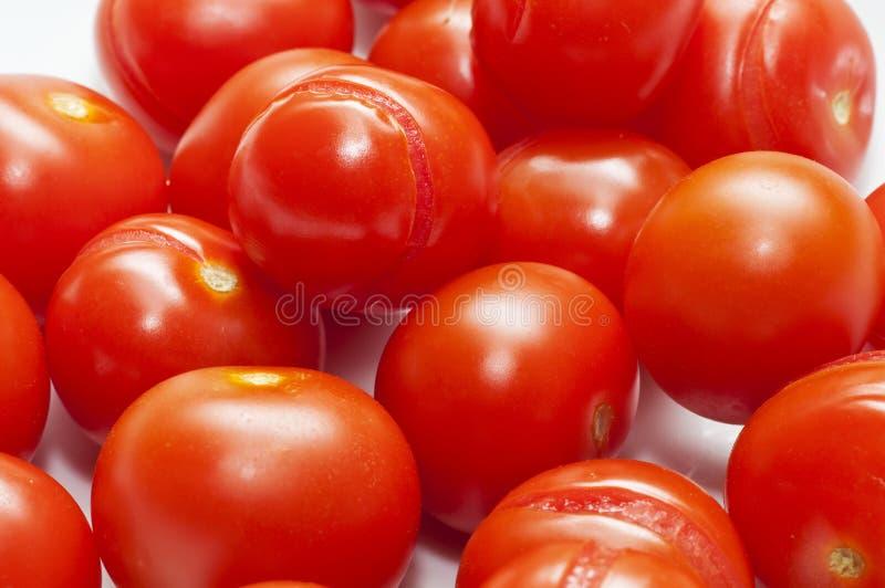 Tomatoe vermelho italiano da cereja foto de stock