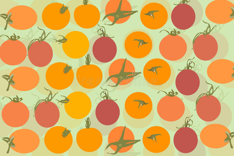 Tomatoes background. Tomatoes vector background,healthy food royalty free illustration