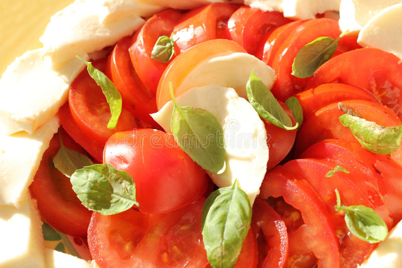 Download Tomatoes Basil And Mozzarella Stock Image - Image: 19644833