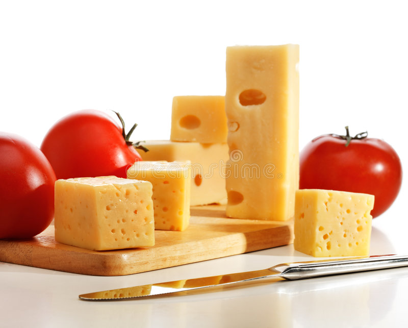 Tomatoes with cheese stock images